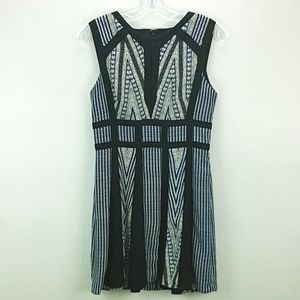 BCBG MaxAria Perla Print-Blocked Dress size 4.